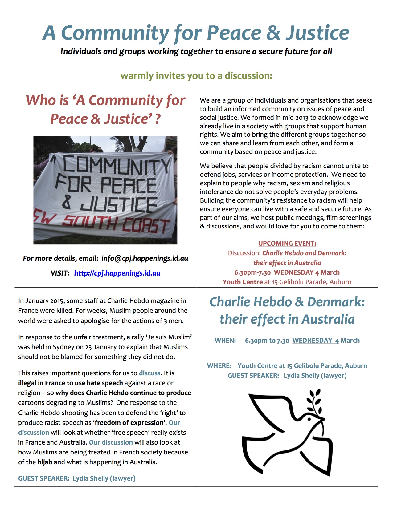 Auburn discussion on WED 4 March 2015